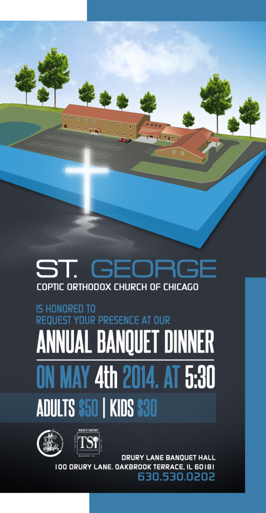 St George Annual Banquet Dinner 3x6 Flyer